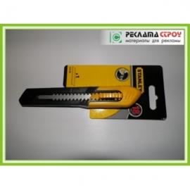 Нож 18 мм пласт. с сегментным лезвием «Stanley»